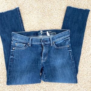 7 for all mankind jeans frayed edges at bottom